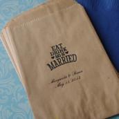 sacs en papier d corations de mariage. Black Bedroom Furniture Sets. Home Design Ideas