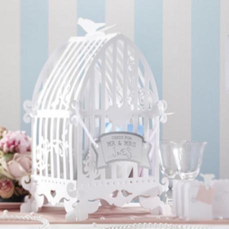 lurne cage oiseaux cartonn - Urne Mariage Cage Oiseau