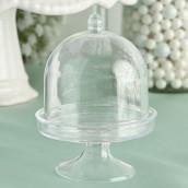 La mini cloche en plastique avec socle
