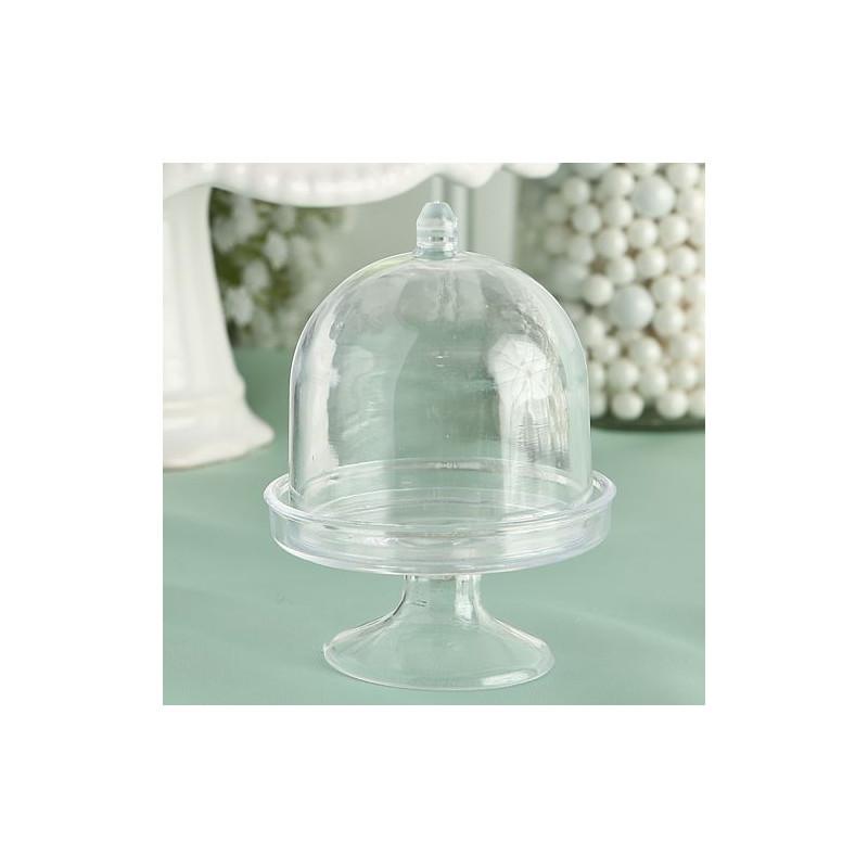Boite dragees cloche sur socle - Cloche en verre avec socle ...