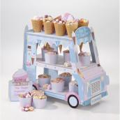 Le stand camionnette à crème glacée
