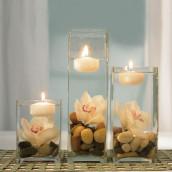 Les 3 bougies flottantes 8cm