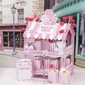 Le stand candy bar rose