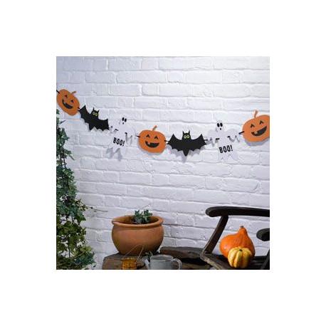 Guirlande halloween fant me citrouille chauve souris - Guirlande d halloween ...