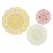 Les 24 napperons en papier fleuris
