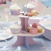 La desserte à cupcake baby shower