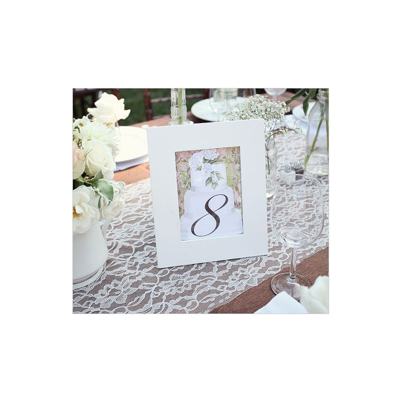 Chemin De Table En Dentelle Blanc