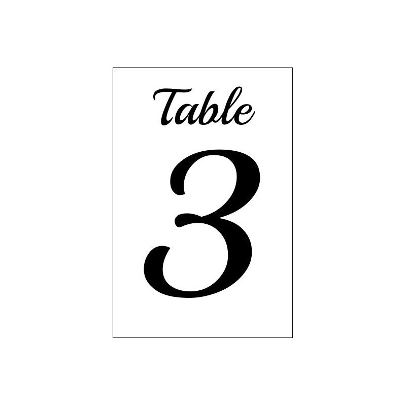 Numero de table plexiglas pour mariage - Numero de table a imprimer ...