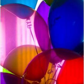 Les 10 ballons transparents cristal (10 coloris)