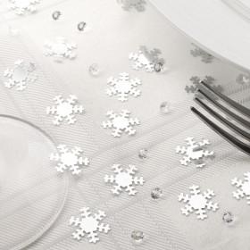 Les confettis de table flocons argent