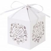 Les 10 boîtes à dragées lanterne en dentelle de papier