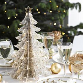Le sapin blanc et or centre de table