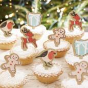 Les pics décoratifs à cupcake noel
