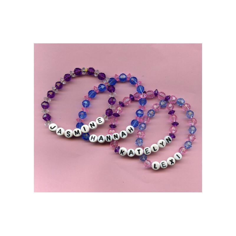 bracelet perle alphabet