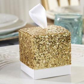 La boite à dragées glitter or