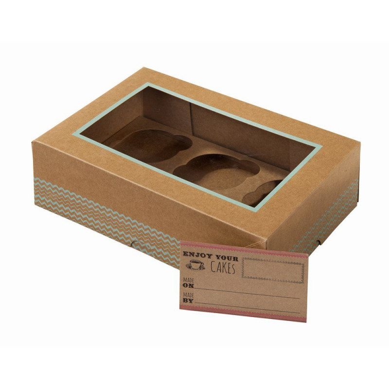 boite a gateau ou biscuit en carton kraft. Black Bedroom Furniture Sets. Home Design Ideas