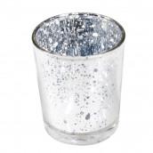 Le photophore verre mercurisé argent