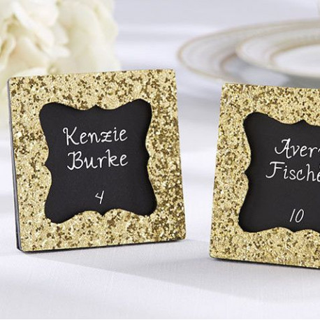 Le cadre marque place glitter or