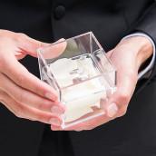 Le porte alliances boite transparente acrylique