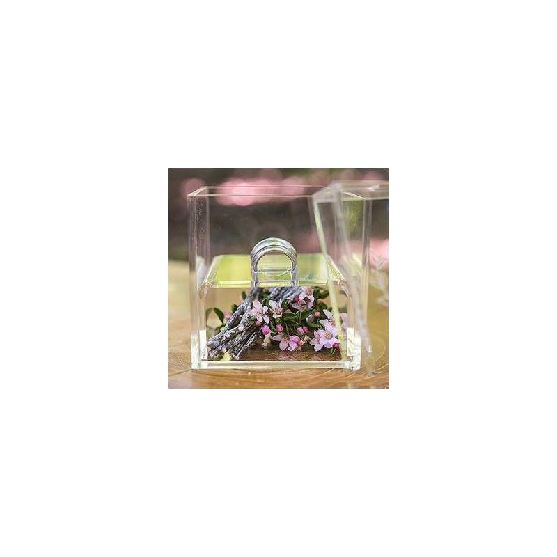 Porte alliances boite transparente personnalisee fleche - Boite acrylique transparente ...