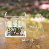 Le porte-alliances boite transparente couronne champêtre