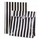 Les 12 sacs à rayures noires avec autocollants