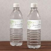 Les 12 étiquettes à bouteille coeur en filigrane