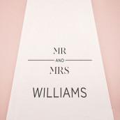 Le tapis d'église personnalisé mr & mrs