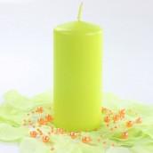 La bougie cylindrique vert 6cm sur 12cm