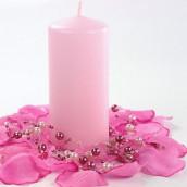 La bougie cylindrique rose 6cm sur 12cm