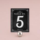 Les 12 numéros de table ardoise