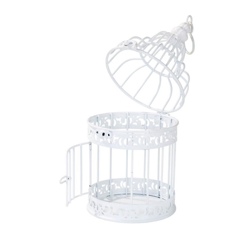 Cage miniature blanche - Petite cage oiseau deco ...