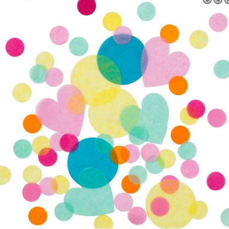 Les confettis multicolores