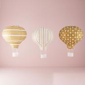 Les 3 lanternes montgolfière