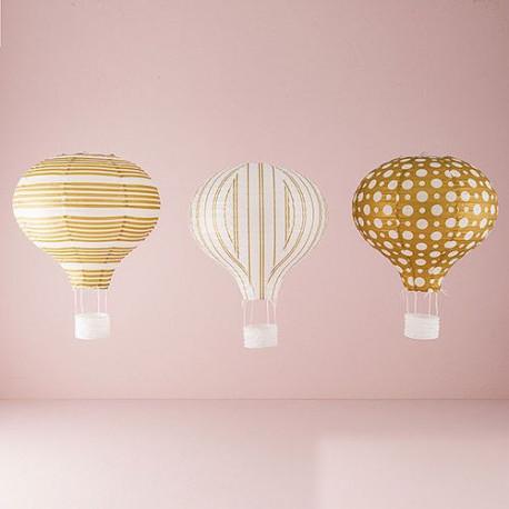 montgolfiere en papier