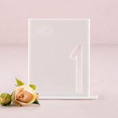 Le numéro de table cadre ajouré en acrylique