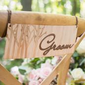 Les 2 pancartes de chaises Bride Groom en bois