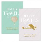 Les 2 cartes voyage vintage 7,6cm x5cm