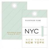 Les 2 étiquettes tags voyage vintage 7,6cm x5cm