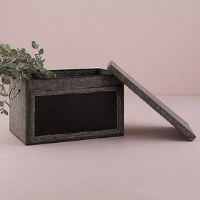 La caisse vintage en zinc et ardoise