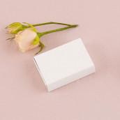 La boîte à dragées allumette blanche
