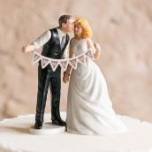 La figurine de gâteau banderole chic