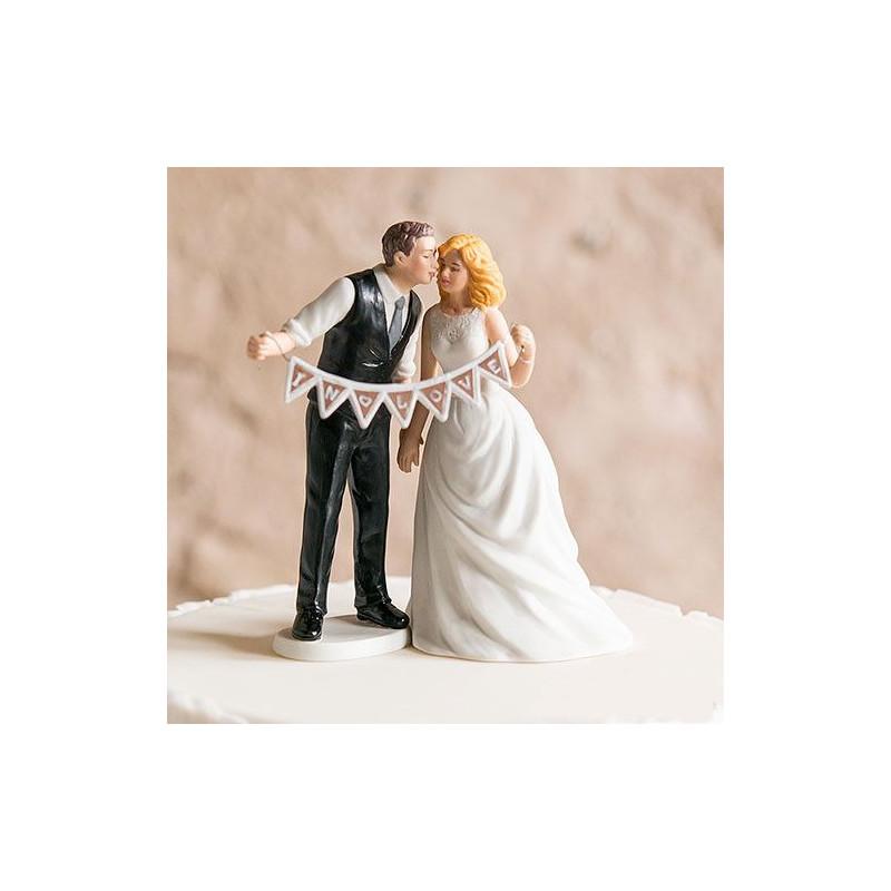 Figurine gateau mariage ballon