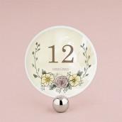 Les 12 numéros de table ronds couronne champêtre