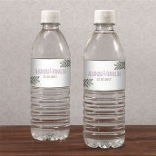 Les 10 étiquettes à bouteille d'eau couronne champêtre
