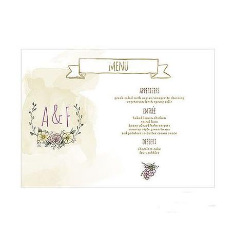 Gut gemocht menu personnalise mariage champetre TA19