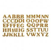 Les lettres alphabet glitter or