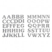 Les stickers lettres alphabet glitter or