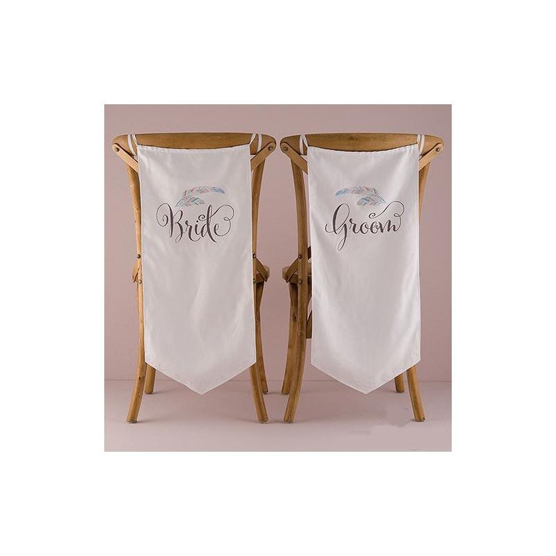 Housse de chaise bride groom personnalis e - Housse de chaise dossier rond ...