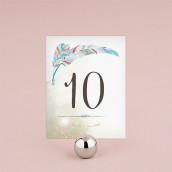 Les 12 numéros de table plume